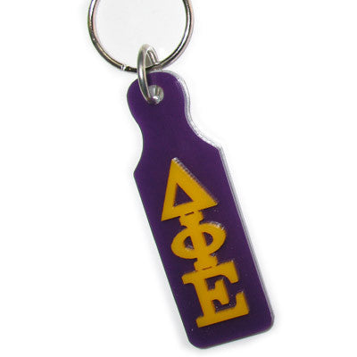 Delta Phi Epsilon Mirror Paddle Keychain - Craftique cqMPK