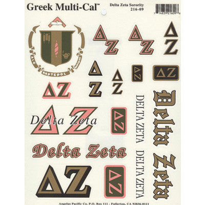 Delta zeta multi cal stickers greek accessories for Lil flip jewelry collection