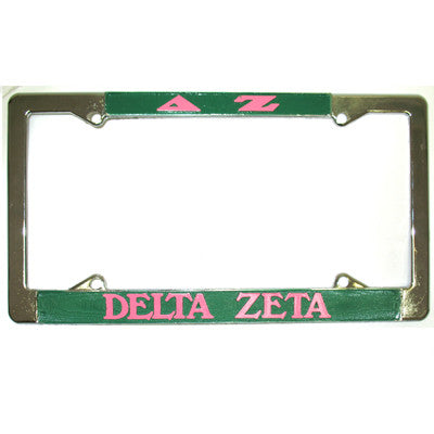 Delta Zeta License Plate Frame - Rah Rah Co. rrc