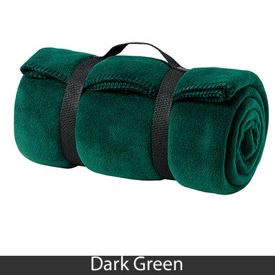 Alpha Gamma Delta Fleece Blanket - Port and Company BP10 - EMB