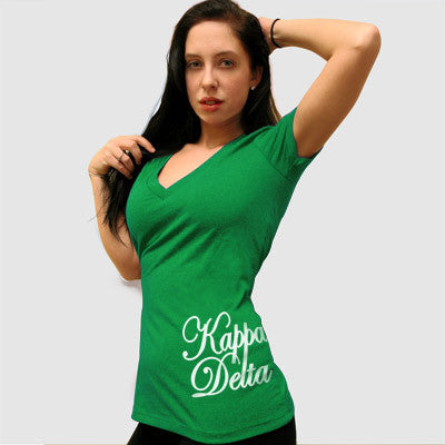 Kappa Delta Deep V Sorority Printed Tee - Next Level 6640 - CAD