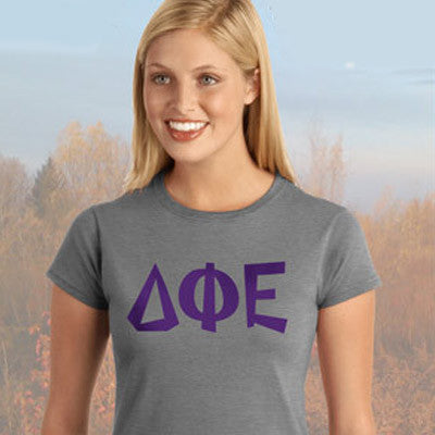 Delta Phi Epsilon Sorority Ladies 39 Softstyle Printed T Shirt