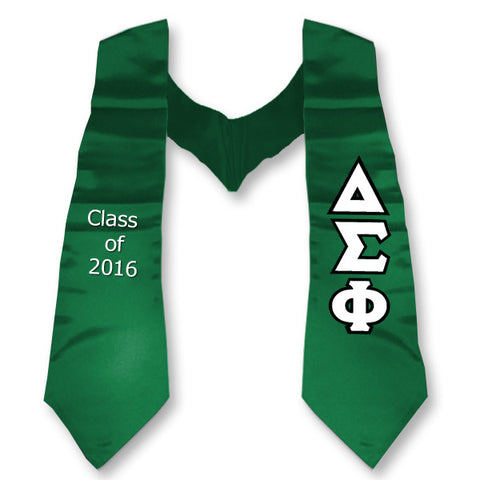 Delta Sigma Phi Graduation Stole with Twill Letters - TWILL