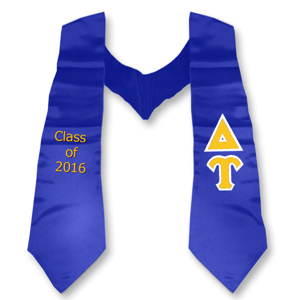Delta Upsilon Graduation Stole with Twill Letters - TWILL