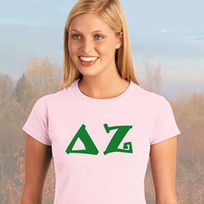 Delta Zeta Ladies' Softstyle Printed T-Shirt - Gildan 6400L - CAD