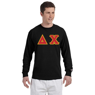 Delta Chi Greek Champion Long-Sleeve Tee - Champion CC8C - TWILL