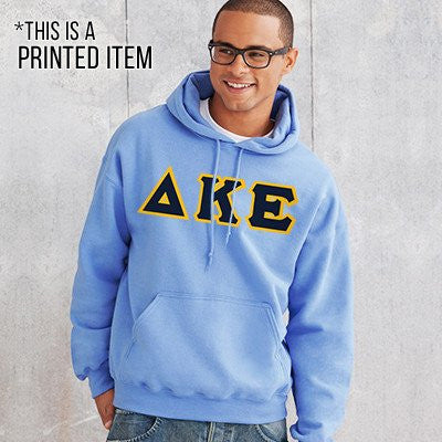 Custom Printed Fraternity Hooded Sweatshirt - Gildan 18500 - DIG