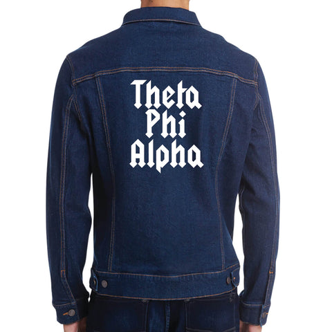 Fraternity and Sorority Printed Organization Name Unisex Denim Jacket - Threadfast Apparel 370J - DTG