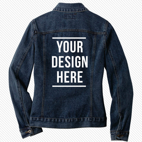 Fraternity and Sorority Custom Printed Unisex Denim Jacket - Port Authority J7620 - DTG