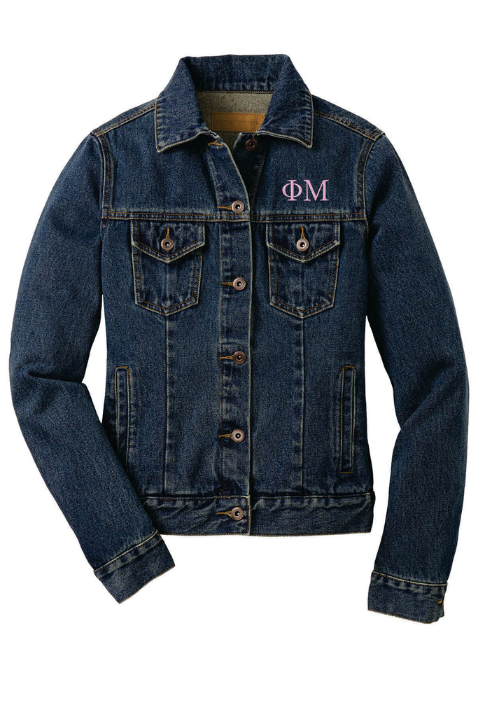 Fraternity and Sorority Lettered Unisex Denim Jacket - Port Authority J7620 - EMB