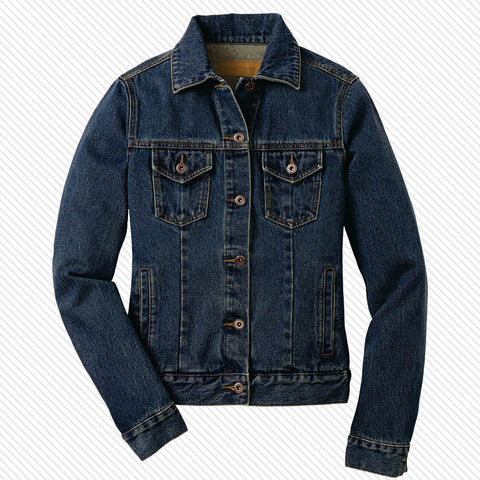 Fraternity and Sorority Scripted Unisex Denim Jacket - Port Authority J7620 - EMB