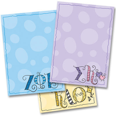 Sorority Dot Notepad - On Sale - Alexandra Co. a1034