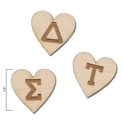 Custom Engraved Heart Letters