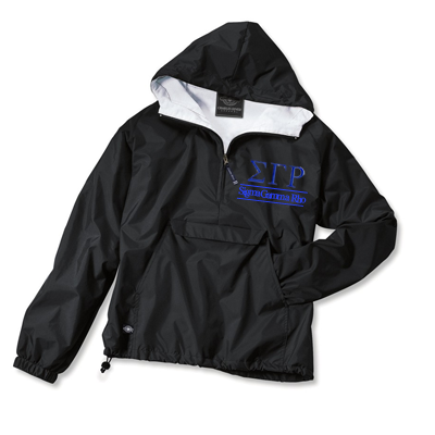 Sigma Gamma Rho Embroidered Bar Design Pullover Jacket - Charles River 9905 - EMB