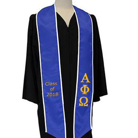 Greek Multi-Color Embroidered Graduation Stole - EMB