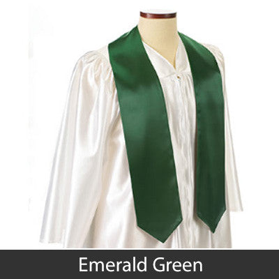 Greek Graduation Stole with Embroidered Crest and Letters - EMB