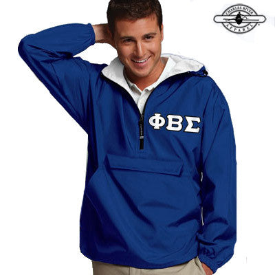 Phi Beta Sigma Pullover Jacket - Charles River 9905 - TWILL