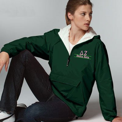 Sorority Pullover Jacket with Embroidery Design - Charles River 9905 - EMB