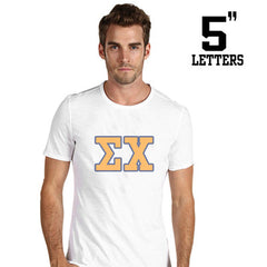 Fraternity Printed Tee with 5-Inch Letters - SUB