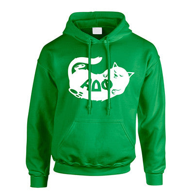Fraternity Cat Design Printed Hooded Sweatshirt - Gildan 18500 -  CAD