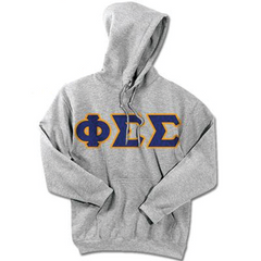 Phi Sigma Sigma Standards Hooded Sweatshirt - $25.99 Gildan 18500 - TWILL