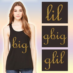 Printed Family Flowy Sorority Tank - Bella B8800 - CAD