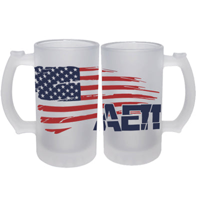 Frosted Mug with American Flag Design - SG16F - SUB