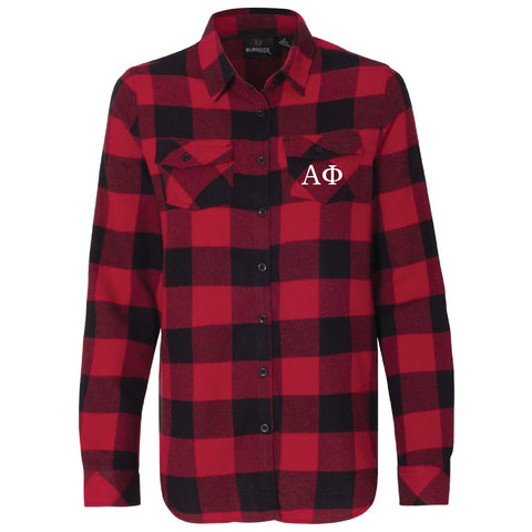 Sorority Printed Pocket Long Sleeve Flannel Shirt - Burnside 5210 - CAD