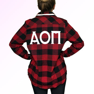 Sorority Printed Long Sleeve Flannel Shirt - Burnside 5210 - CAD