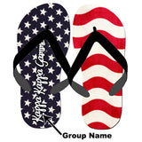 Greek Stars and Stripes Flip-Flops - SALE SBL100 - SUB