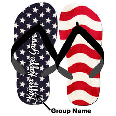 Greek Stars and Stripes Flip-Flops - SBL100 - SUB