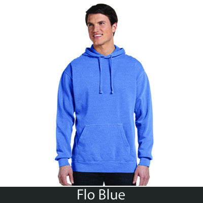 Fraternity Comfort Colors Varsity Printed Hooded Sweatshirt - Comfort Colors 1567 - CAD
