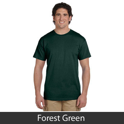 Fraternity Printed Greek Outline Font T-Shirt - Gildan 5000 - CAD