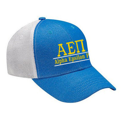 Fraternity Knockout Cap with Bar Design - Adams KN102 - EMB