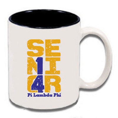 Custom Greek letter coffee mug