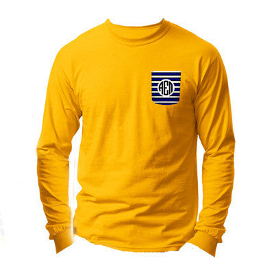 Fraternity Crocket Long-Sleeve Tee - Gildan 2400 - SUB