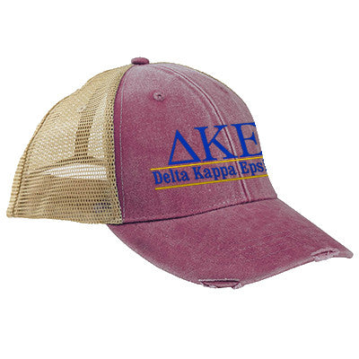 Fraternity Ollie Cap with Bar Design Embroidery - Adams OL102 - EMB