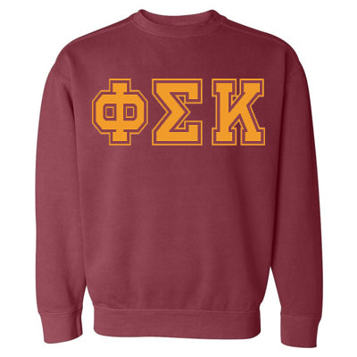 Fraternity Varsity Printed Crew Neck Sweatshirt - Comfort Colors 1566 - CAD
