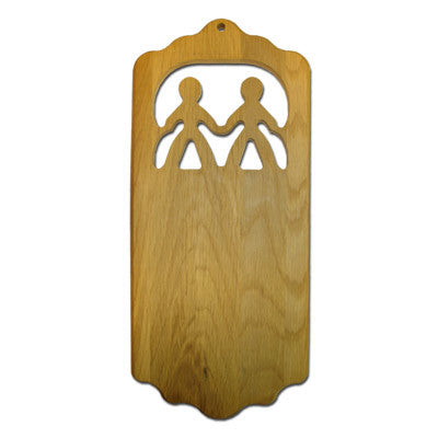 Sorority Friends Plaque - 445-Oak