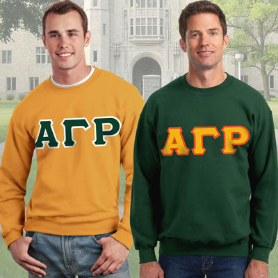 Alpha Gamma Rho Crewneck Sweatshirt Package - Gildan 12000 - TWILL