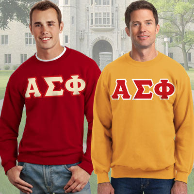 Alpha Sigma Phi Crewneck Sweatshirt Package - Gildan 12000 - TWILL