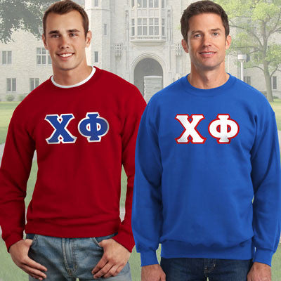 Chi Phi Crewneck Sweatshirt Package - Gildan 12000 - TWILL