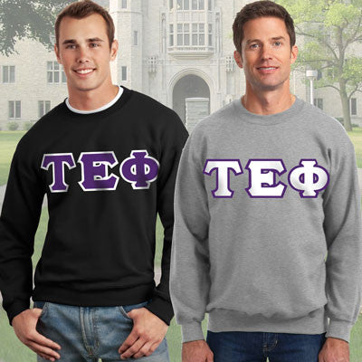 Tau Epsilon Phi Crewneck Sweatshirt Package - Gildan 12000 - TWILL