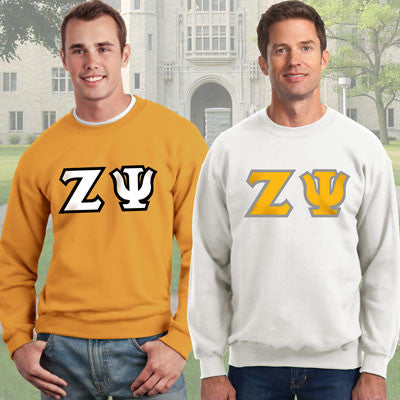 Zeta Psi Crewneck Sweatshirt Package - Gildan 12000 - TWILL