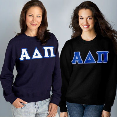 Alpha Delta Pi Crewneck Sweatshirt Package - Gildan 12000 - TWILL