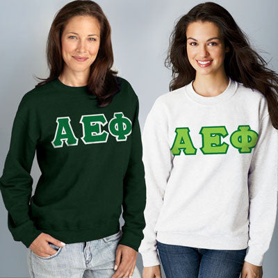 Alpha Epsilon Phi Crewneck Sweatshirt Package - Gildan 12000 - TWILL
