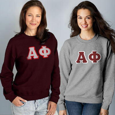 Alpha Phi Crewneck Sweatshirt Package - Gildan 12000 - TWILL