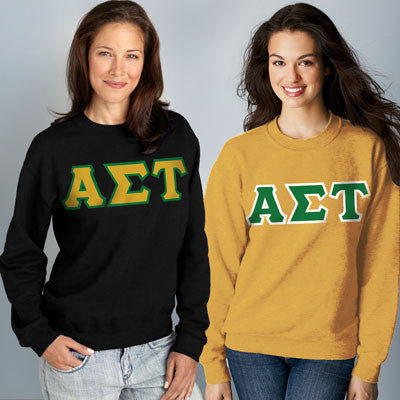 Alpha Sigma Tau Crewneck Sweatshirt Package - Gildan 12000 - TWILL