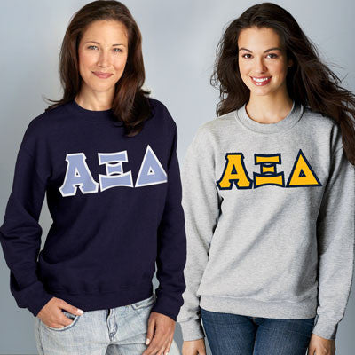 Alpha Xi Delta Crewneck Sweatshirt Package - Gildan 12000 - TWILL