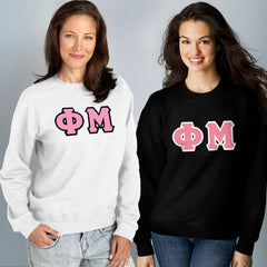 Phi Mu Crewneck Sweatshirt Package - Gildan 12000 - TWILL